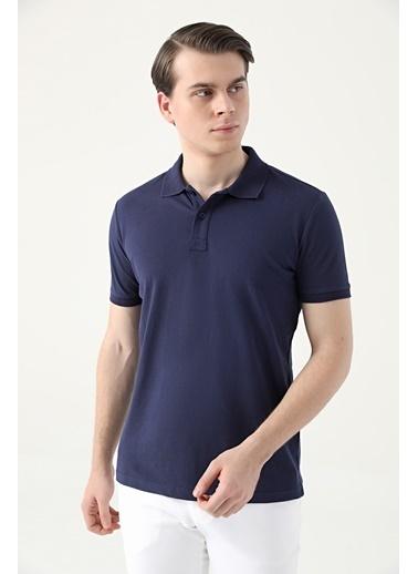 D'S Damat Regular Fitpike Dokulu T-Shirt Lacivert